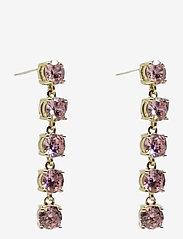 PIPOL'S BAZAAR - Stringin Ear Golden Pink - statement earrings - pink - 0