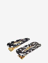 PIPOL'S BAZAAR - Marble Hair Clip PIPOL Set B&W - hair accessories - multi - 0