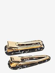 PIPOL'S BAZAAR - Marble Hair Clip PIPOL Set B&W - hair accessories - multi - 1
