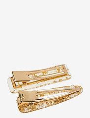 PIPOL'S BAZAAR - Flake Hair Clip PIPOL Set Gold - hair accessories - gold - 1