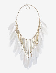 PIPOL'S BAZAAR - Drama Feather PIPOL Necklace Grey - statement necklaces - grey - 0