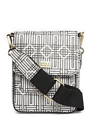 Stile Pipols Saddle Cross Bag - BLACK & WHITE