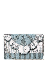 Queenly Beaded PIPOL Clutch Ice - SILVER