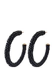 Dany Beaded PIPOL Hoop Black - BLACK