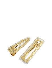 Flake Hair Clip PIPOL Set Gold - GOLD