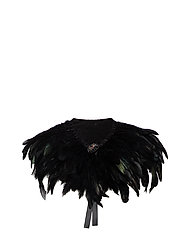 Majestic Feather Pipols Collar - BLACK
