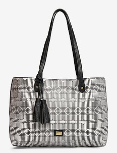 Stile Pipols Shopper Bag Deco Sand - BLACK & WHITE