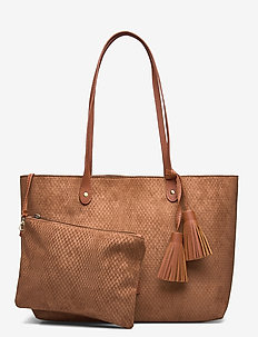 Viva Shopper Bag Impress Brown - shoppers - brown