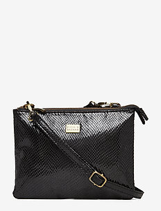 Double Cross-Body Pipols Bag - BLACK