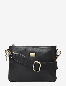 Sweet Pipol´s Mini Cross Leather Bag - skuldervesker - black