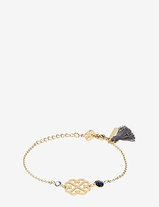 Lola Tassel Bracelet Gold Sapphire - BLUE
