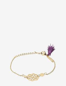 Lola Tassel Bracelet Gold Amethyst - PURPLE