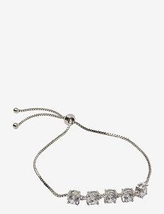Stringin Bracelet Silvery Clear - dainty - silver
