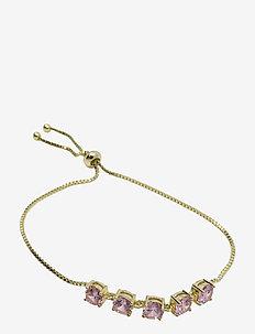 Stringin Bracelet Golden Pink - dainty - pink
