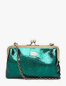 Fiesta Moira Chain Clutch Emerald - clutches - green
