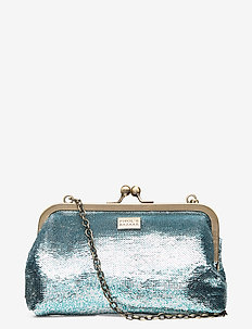 Fiesta Fiore Chain PIPOL Clutch Blue - clutches - blue