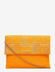 Cleo PIPOL Beaded Clutch Orange - ORANGE