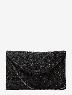 Sany Beaded Clutch Black - clutches - black