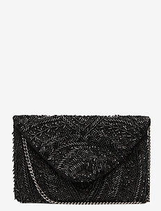 Sintra Beaded PIPOL Clutch Black - clutches - black