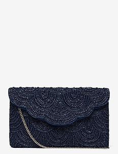 Femme Beaded Clutch Navy - clutches - blue