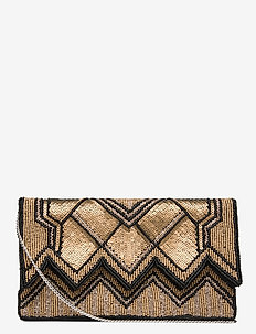 Tamika Beaded Clutch Gold - clutches - gold