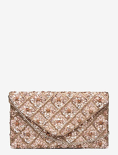 Florence Beaded Clutch Pink - kopertówki - pink