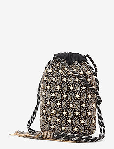 Positano Pearl Pouch Clutch Black - clutches - multi