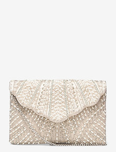 Lusso Pearl Clutch White - clutches - white