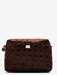 Velvet Logo PIPOL Cosmetic Medium Chocolate - BROWN