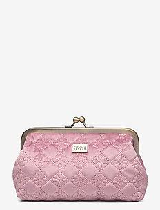 Velvet Logo Cos Frame Pale Rose - kuvertväskor - pink