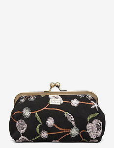 Velvet Garden Cosmetic Frame Black - clutches - black