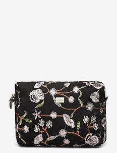 Velvet Garden Cosmetic Medium Black - kuvertväskor - black