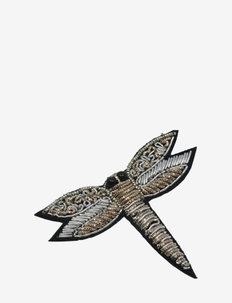 Dragonfly Brooche Golden - broches - gold