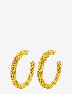 Dany Beaded PIPOL Hoop Yellow - YELLOW