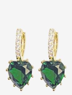 Lovely Hoop Ear Green - statement - green