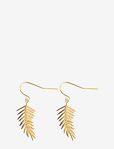 Colonia Palm Ear Gold - pendant earrings - gold
