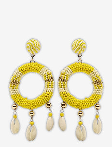 Rica Earring Yellow - statement-øredobber - yellow