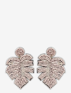 Leafer Earring Pale Pink - pendant - pink