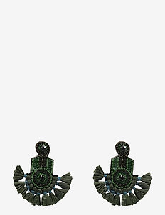 Fira Ear Green - statement oorbellen - green