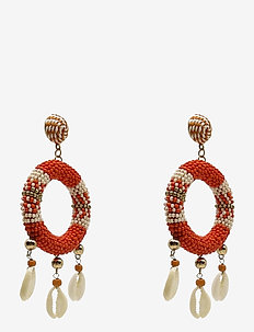 Rica Earring Corall - statement oorbellen - red