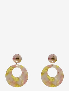 Havanna Ear Marble Pink - statement oorbellen - pink