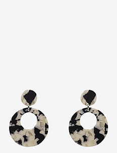 Havanna Ear Marble BW - statement oorbellen - multi