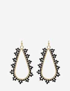 Gondola Earring Black - pendant earrings - black