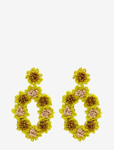 Festival Earring Yellow - statement earrings - yellow