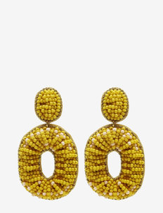 Beddy Earring Yellow - statement earrings - yellow