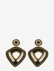 Trianga Earring Multiblack - statement earrings - multi