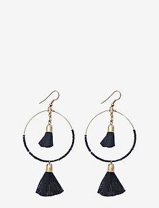 Maya Earring Medium Black - BLACK