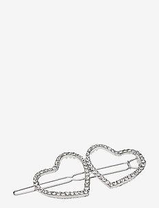Hearts PIPOL Hair Clip Silver - haar accessoires - silver