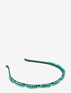 Trissa Embroidered PIPOL Diadema Green - accessoires - green