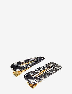 Marble Hair Clip PIPOL Set B&W - haar accessoires - multi